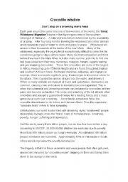 English Worksheets: Crocodile Wisdom