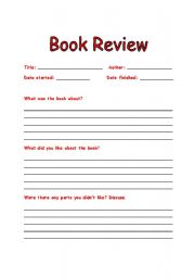 book review - worksheet by michelle LI