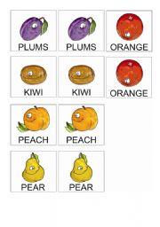 Fruits Memory Game 2