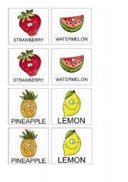 Fruits Memory Game 3