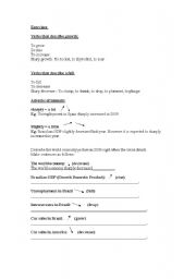 English Worksheets: Elementary Business English Worksheet - Verbs which describe change.