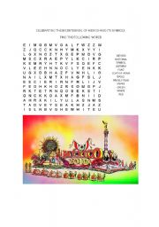 English Worksheet: Nouns for Mexico Bicentennial wordsearch