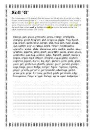 Pronunciation: Soft G - ESL worksheet by Apodo