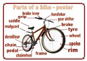 Parts Of A Bike Poster Name The Parts Two Pages Esl