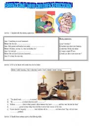 English Worksheet: parents and their children´s education/ pushy or not pushy parents