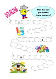 English Worksheets: practice about doubling