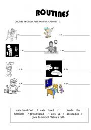 English Worksheets: ROUTINES