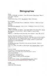 English Worksheets: Bibliographies