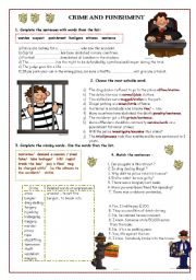 English Worksheets: Crime and Punishment part 2
