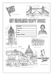 English Worksheet: NOTEBOOK / PORTFOLIO COVER + labelling activity + coloring