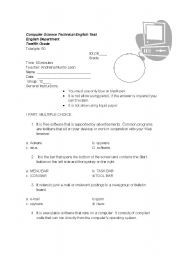 Printables Computer Science Worksheets english teaching worksheets computers computer science test