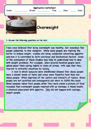 English Worksheets: Overweight