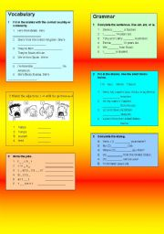 English worksheet: Review unit exercises