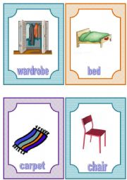 flashcards - furniture and household appliances