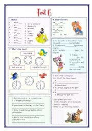 English Worksheets: My English Portfolio 16 (Test 6 from 9)