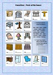 furniture/ parts of the house