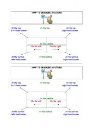 English Worksheets: worksheet how to describe a picture