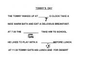 English Worksheets: Tommy`s day