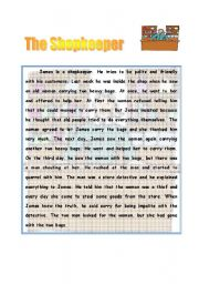 English Worksheets: the shopkeeper