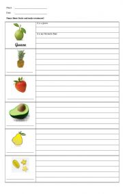 english teaching worksheets fruits english worksheets my favorite fruit