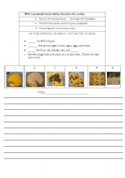 English Worksheets: How to Make Chocolate Chip Cookies