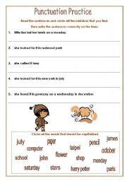 math worksheet : english teaching worksheets punctuation : Punctuation Worksheets For Kindergarten
