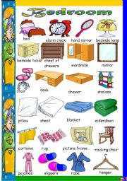 English Worksheet: What can you find in your bedroom?
