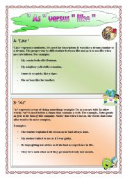 English Worksheets: The difference between