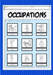 English Worksheets: Occupation 1