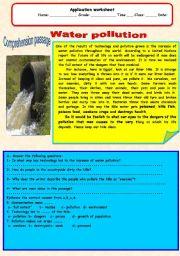 English Worksheet: Water pollution