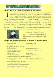 English Worksheets: Why do pandas today have black marks?