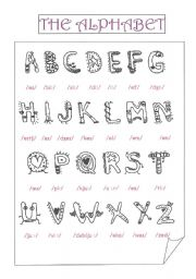 Esl Alphabet Worksheets Free Worksheets Library   Download and ...
