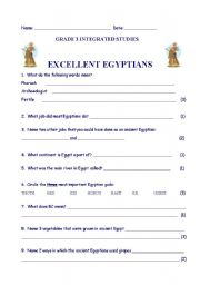 English Exercises: ANCIENT EGYPTIANS