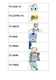 English worksheet: Classroom instruction verbs
