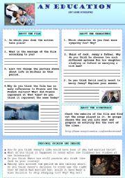 An Education film worksheet