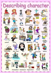 English Worksheet: Describing character