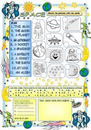 English Worksheet: Elementary Vocabulary Series12 - Space