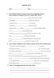 Printables Language Arts Worksheets For 6th Grade english worksheets sixth grade language arts quiz worksheet quiz
