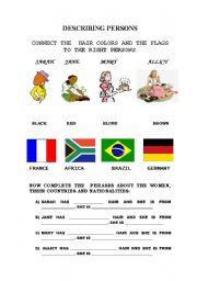 English Worksheets: DESCRIBING PERSONS