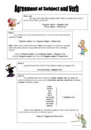 English Worksheet: agreement of subject and verb