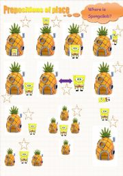 prepositions of place with Sponge Bob