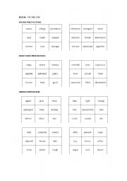 English worksheet: TIC-TAC-TOE WHAT PREPOSITION DO YOU USE WITH...?