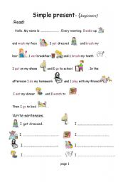 Fair Simple English Worksheets for Beginners with Additional Best ...