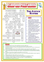 English Worksheets: Crime and Punishment  - The Justice System