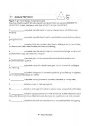 Printables Respect Worksheets english worksheet respect or disrespect