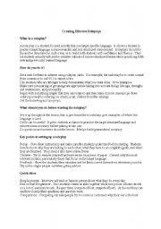 English worksheet: Creative Effective Roleplays