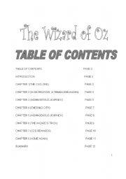 English Worksheet: WIZARD OF OZ BOOKLET