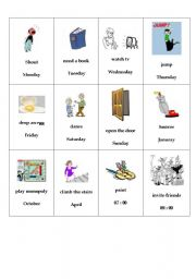 English Worksheet: Pronunciation game : regular verbs at the simple past
