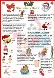 English Worksheet: Who is Santa Claus?