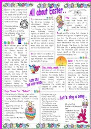 English Worksheets: All about Easter..